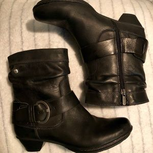 PIKOLINOS Shoes - COPY - Pikolinus Black Leather Ankle Boots